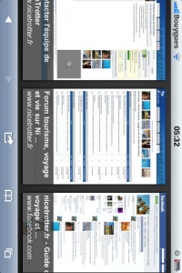 Affichage horizontal de Google Instant Preview sur iPhone